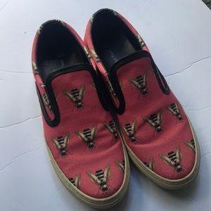 Bee slide on sneakers